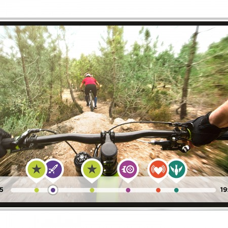 TomTom Bandit Action Camera - MTB footage on smartphone